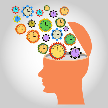 echnology: head: illustration: many clocks like gear wheels contacting each other