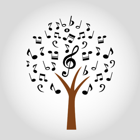 music tree - Vector illustration Vector
