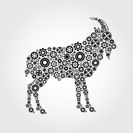 goat cheese: Vector image of an goat Illustration