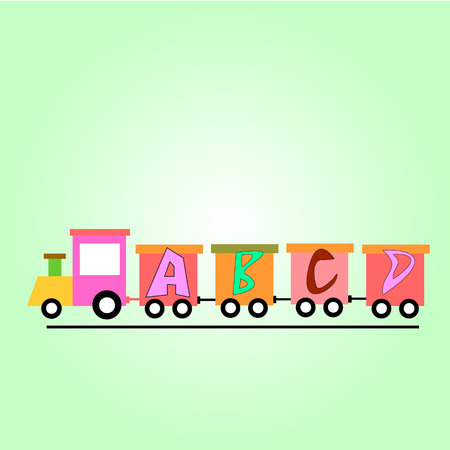 ABC Train Vector