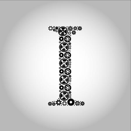hesitation: Letter I, alphabet of medicine pills Illustration