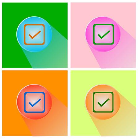 Check mark sign icon. Checkbox button Vector