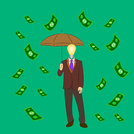 came: The businessman came under the rain of money