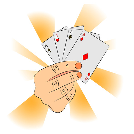 diabolic: Diabolic hand holds an aces