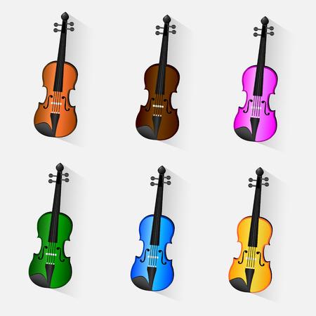 fiddle bow: Violin vector Illustration