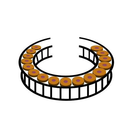 gong circle,Thai musical instrument Vector