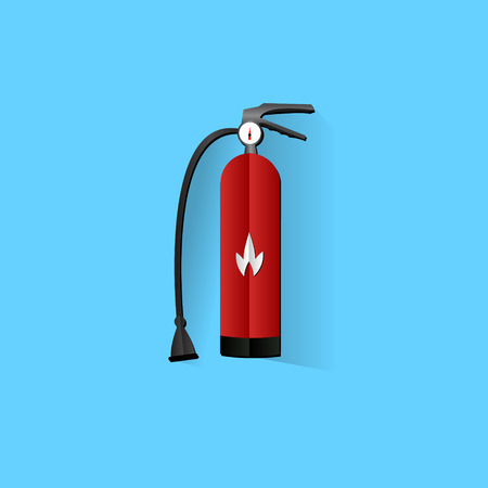 fire extinguisher sign: Extintor signo icono. S�mbolo de seguridad contra incendios. EPS10 vector. Vectores