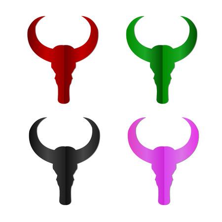 bull skull icon - vector illustration. eps 10 Vector