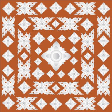 Thai traditional art. Thai Art Background, Thai art pattern, Vector. Vector