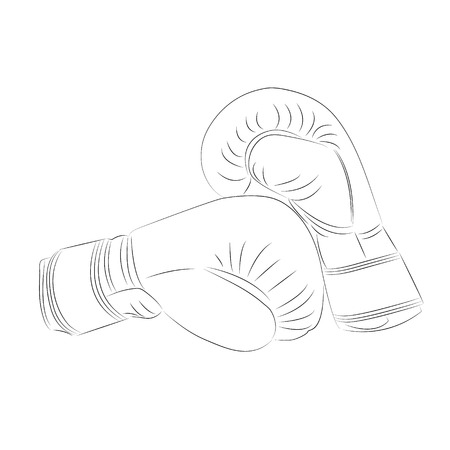 flyweight: Doodle style boxing illustration in vector format.