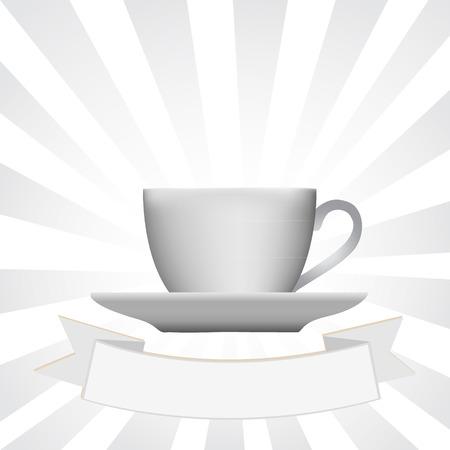 Tazza di caffè, illustrazione vettoriale Archivio Fotografico - 32223095