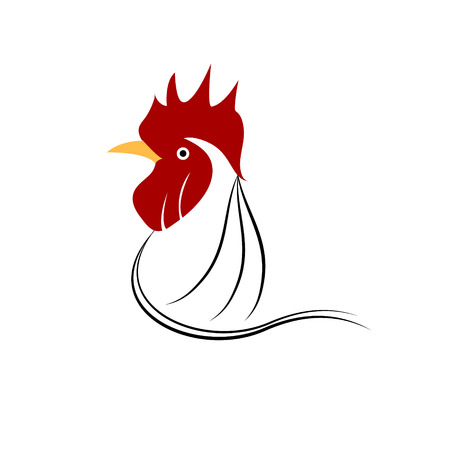 chicken head grunge icon. Vector illustration Vector
