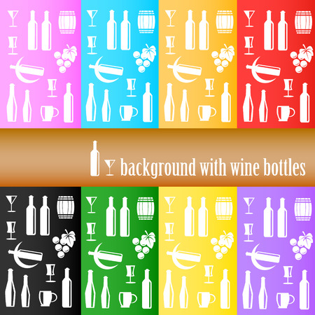 white riesling grape: background with wine bottles