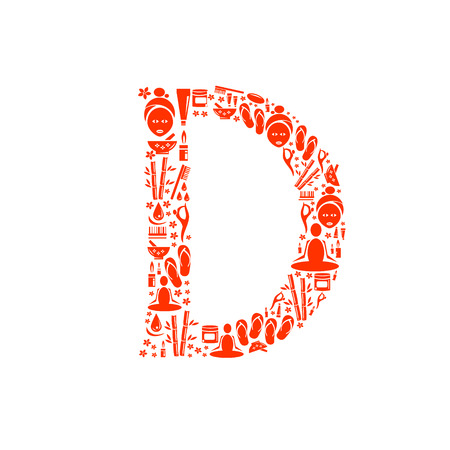 papering: Abstract vector alphabet - D made from Icon Spa - alphabet set.