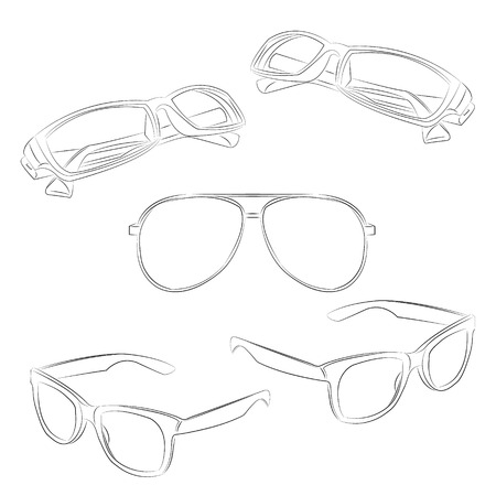 Glasses Drawing Vector