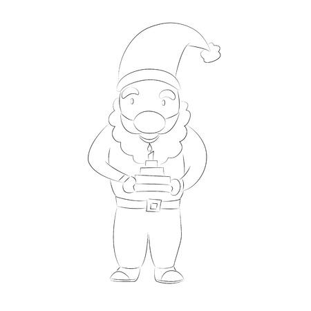 degraded: Nice cartoon Santa Claus