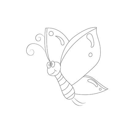 lepidopteran: funny cartoon butterfly