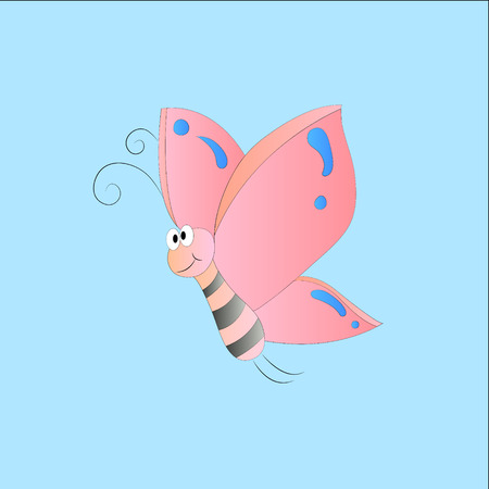 lepidopteran: funny cartoon butterfly