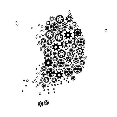 detailed: High detailed vector map - Korean