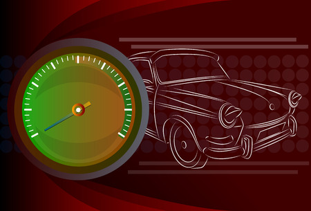 speedmeter: Speedometer needle Illustration