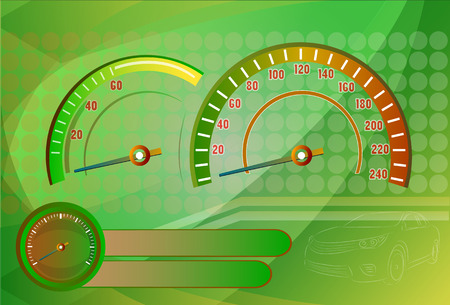kph: Speedometer needle Illustration