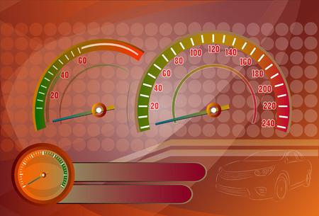 kph: Speedometer needle Illustration