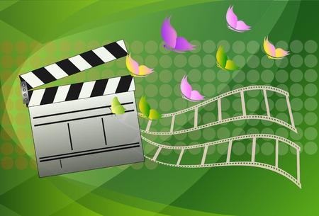 Cinema leisteen boord. Vector illustratie. Stock Illustratie