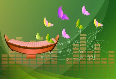 xylophone: xylophone, Musical background