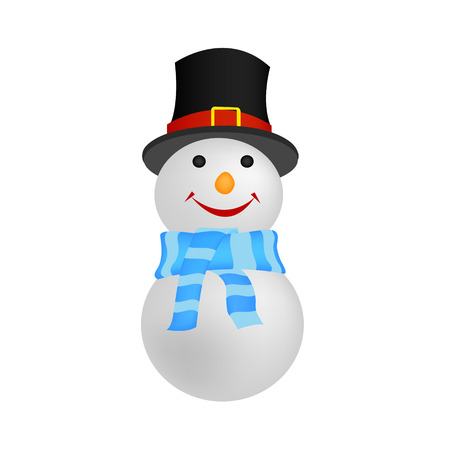 snowman vector: Snowman isolated on white background. Vector illustration. Illustration