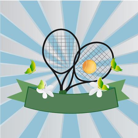tennis design over blue background vector illustration
