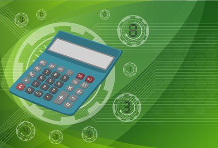 Calculator on background technologies, vector eps10 illustration.