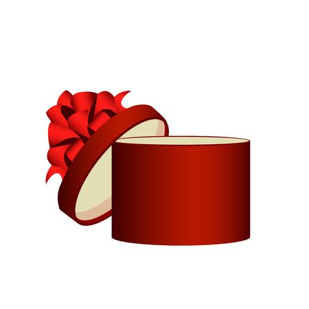 pledge: Gift box, ribbon and bow. Vector illustration