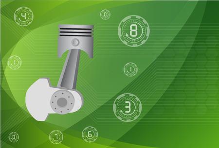 cam gear: pistons engine ,vector Illustrations .ESP 10 Illustration