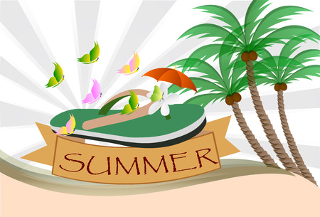 esp: Summer background design, vector Illustrations .ESP 10.