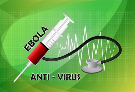 antivirus: Syringe Ebola antivirus concept. Vector illustration