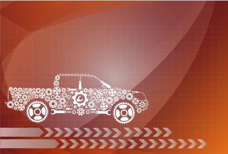 concept, symbolizing the car as a mechanism Illustration
