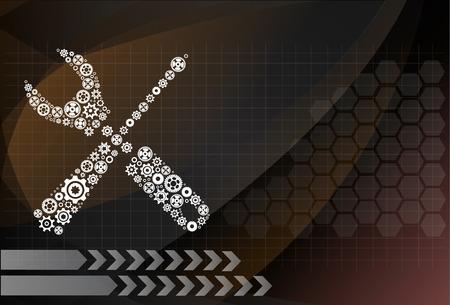 upkeep: tools design on the background technologies Illustration