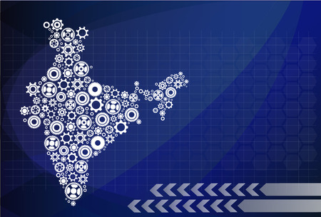 High detailed vector map - India Vectores