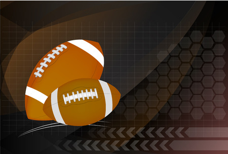 Background of American Football and rugby sports. Vector Illustration.