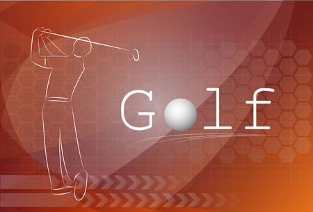 individual sports: Golf background ,Vector