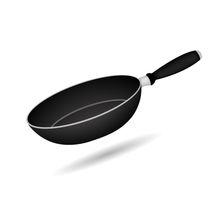 skillet: frying pan vector illustration isolated on white background Illustration