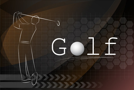 Golf background ,Vector