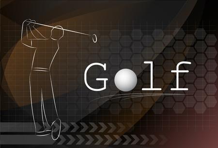 Golf background ,Vector