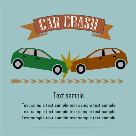 car crash: Car Crash Vector Illustratie EPS10
