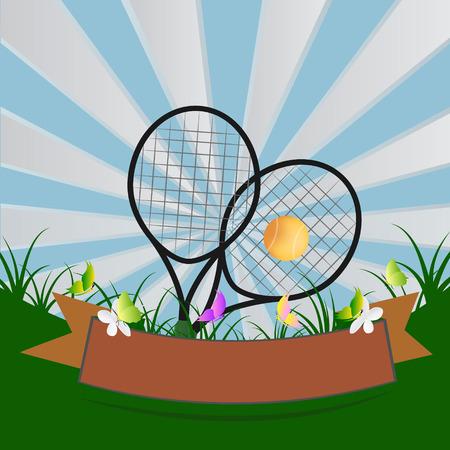 tennisball: tennis design over blue background vector illustration