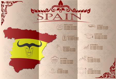 bullfighting: Spain  infographics, statistical data, sights. Vector illustration