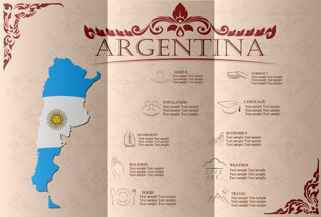Argentina infographics, statistical data, sights. Vector illustration
