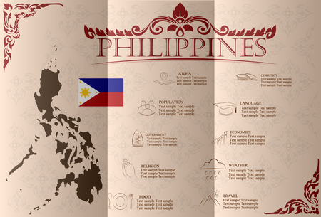 idler: Philippines infographics, statistical data, sights. Vector illustration.
