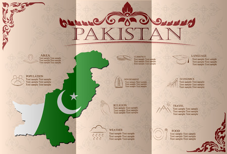 islamabad: pakistan infographics, statistical data, sights. Vector illustration
