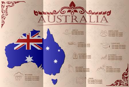 Australia infographics, statistical data, sights. Vector illustration